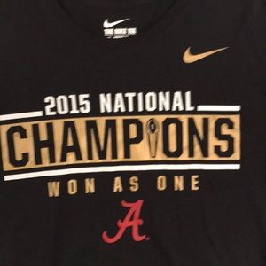 Nike Shirts - Nike DriFit Alabama 2015 Nat'l Championship Tshirt